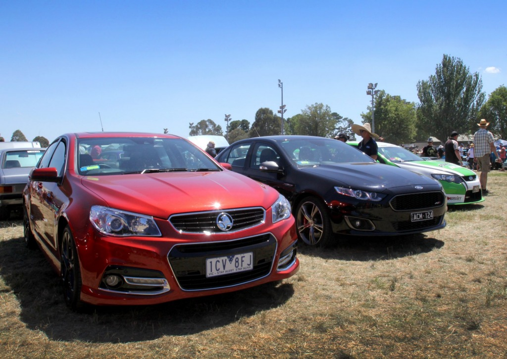 Fading fast: the latest Commodore and Falcon variants drew interest from the Summernats faithful but most won't buy them.