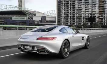 Mercedes-AMG GT's smooth lines stopped some people in the city.