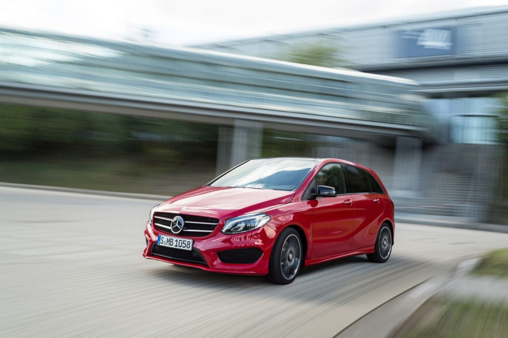 The Mercedes-Benz B250 is a great hatch to cart around four or five people.
