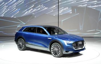 An Audi e-tron quattro concept car.