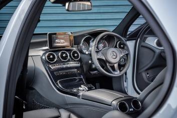Mercedes-Benz C200 interior.