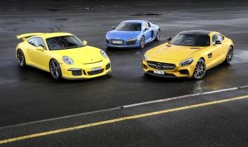 Comparison test: Mercedes-AMG GT S v Porsche 911 GT3 v Audi R8 LMX