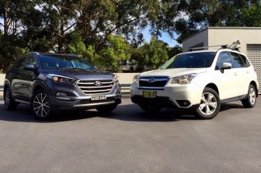 Hyundai Tucson v Subaru Forester head-to-head
