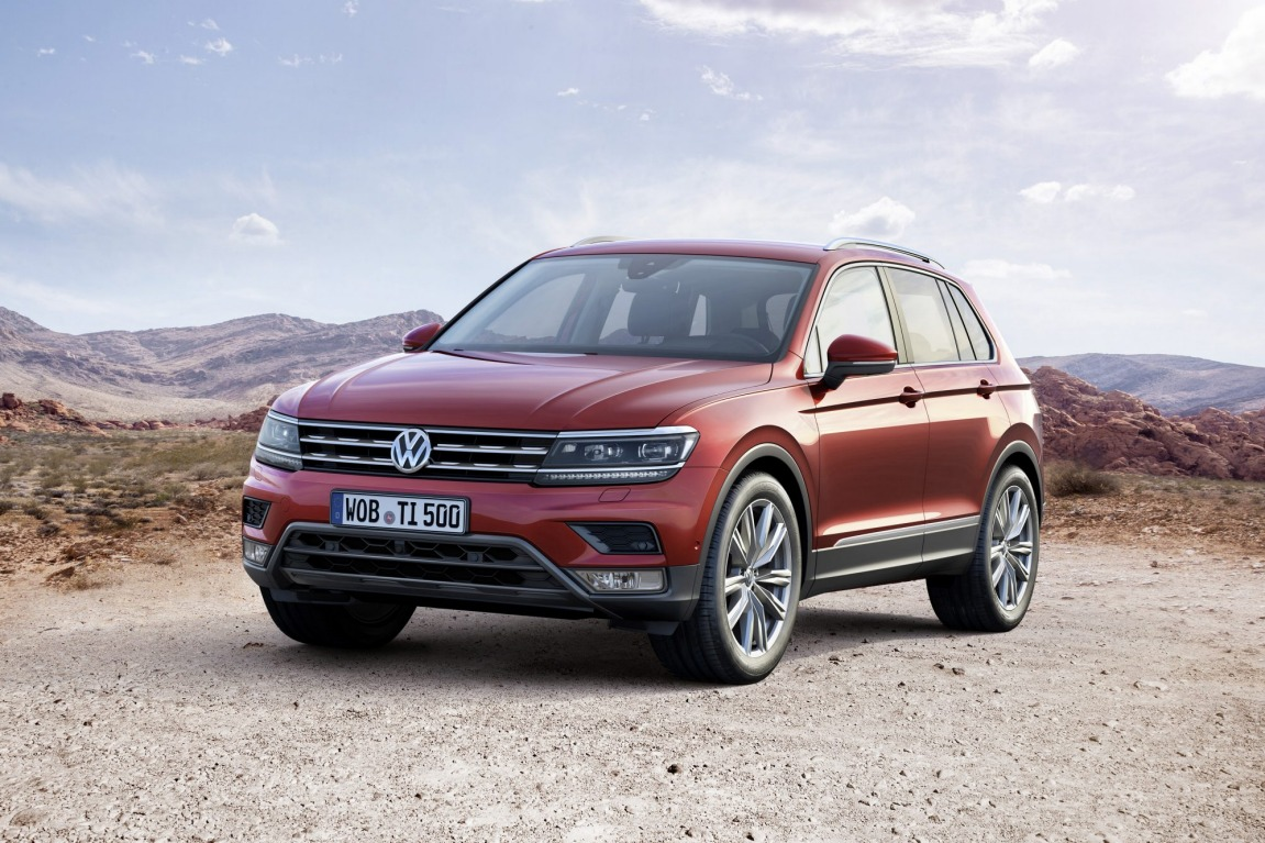 Volkswagen unveiled its new Tiguan compact SUV as well as a new hybrid GTE concept of the popular SUV.