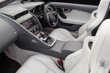 Jaguar offers plenty of customisation for F-Type interiors.