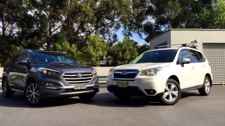 The Hyundai Tuscon and Subaru Forester.