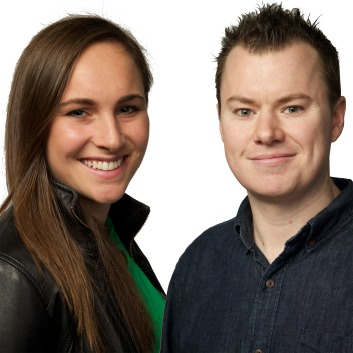 Dinkus of Drive motoring staff Molly Taylor and Stephen Ottley.  27th July 2015 Photo: Wolter Peeters The Sydney Morning Herald Molly Taylor and Stephen Ottley she says, he says thumbnail