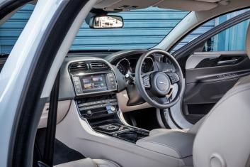 Jaguar XE interior.