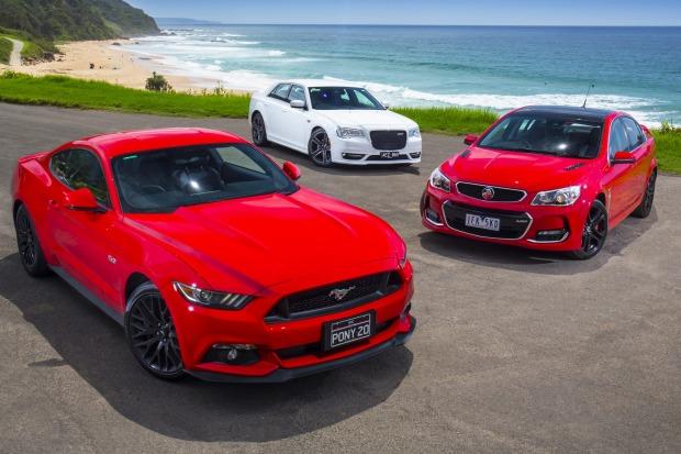 Ford Mustang GT v Holden Commodore SS-V Redline v Chrysler SRT Core
