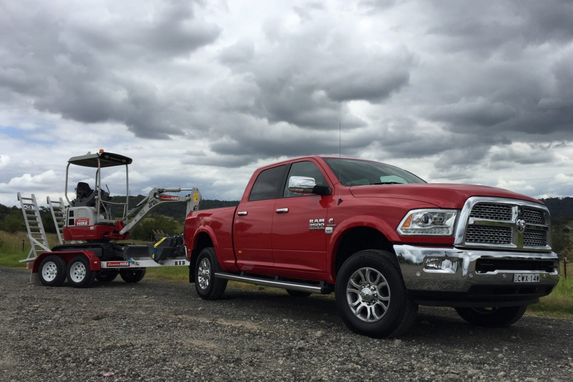 Ram 2500 can tow almost seven tonne.