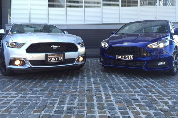 Ford Mustang EcoBoost v Ford Focus ST