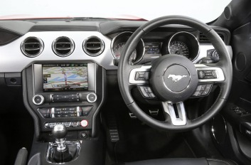 Inside the Ford Mustang EcoBoost.