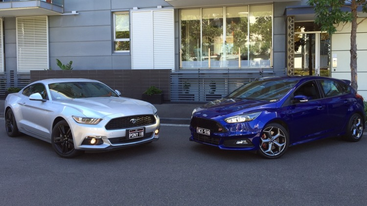 Ford Mustang EcoBoost v Ford Focus ST.