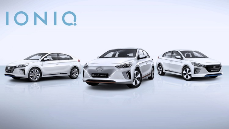 Hyundai has revealed its Ioniq hybrid and electric car range.