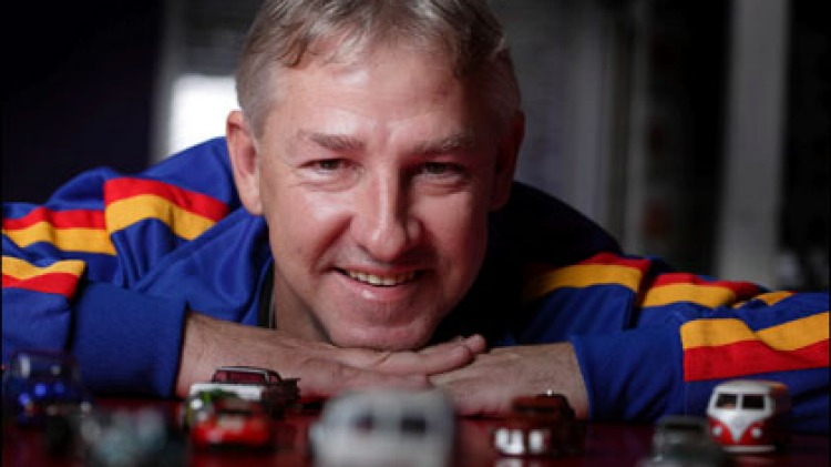 """Tiny toys, big spender ... Shane Abbott has made a 40-year """"investment"""" in Hot Wheels."""