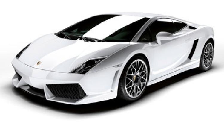 A Lamborghini Gallardo.