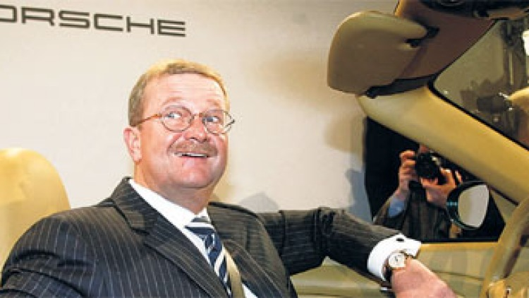 Wendelin Wiedeking ... as boss of VW's biggest investor, well might he smile. Photo: AP