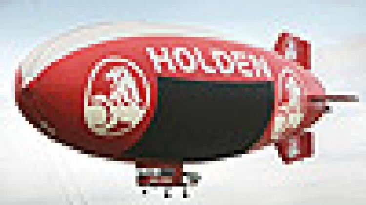 Holden's advertising blimp