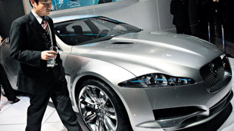 But does it keep going? ... Jaguar XK on show at Millionaires Fair in Shanghai. Photo: AFP