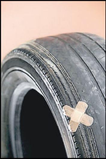 Worn tyres a threat