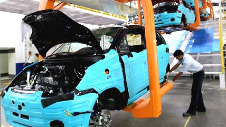 Inside a General Motors plant in the US