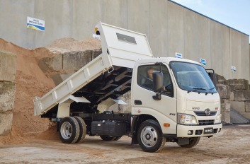 Workhorse: the Hino 616 IFS revels on the job site.