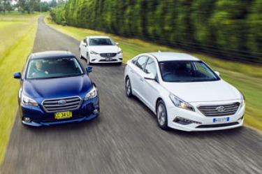 Mid-sized sedan comparison: Mazda6 v Subaru Liberty v Hyundai Sonata