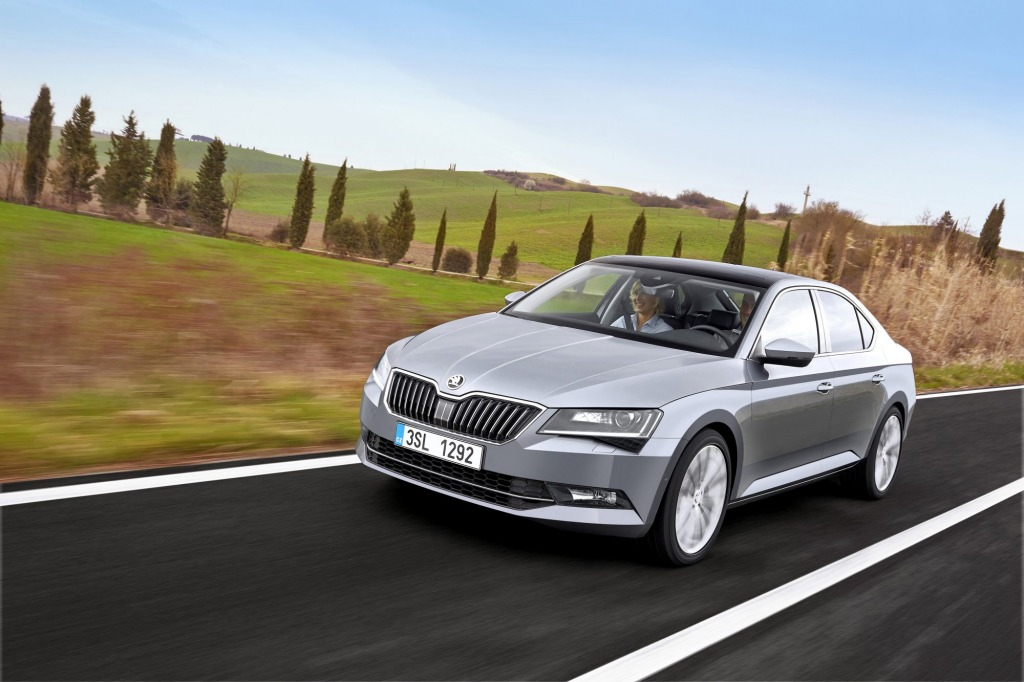 The 2015 Skoda Superb.