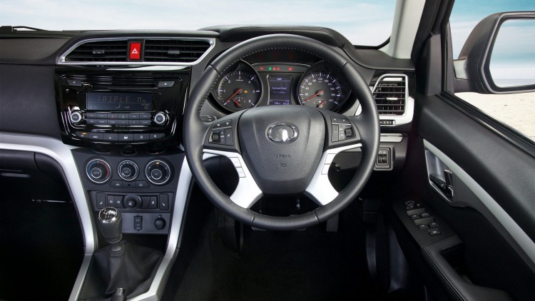 The ute features six airbags and a six-speaker stereo.