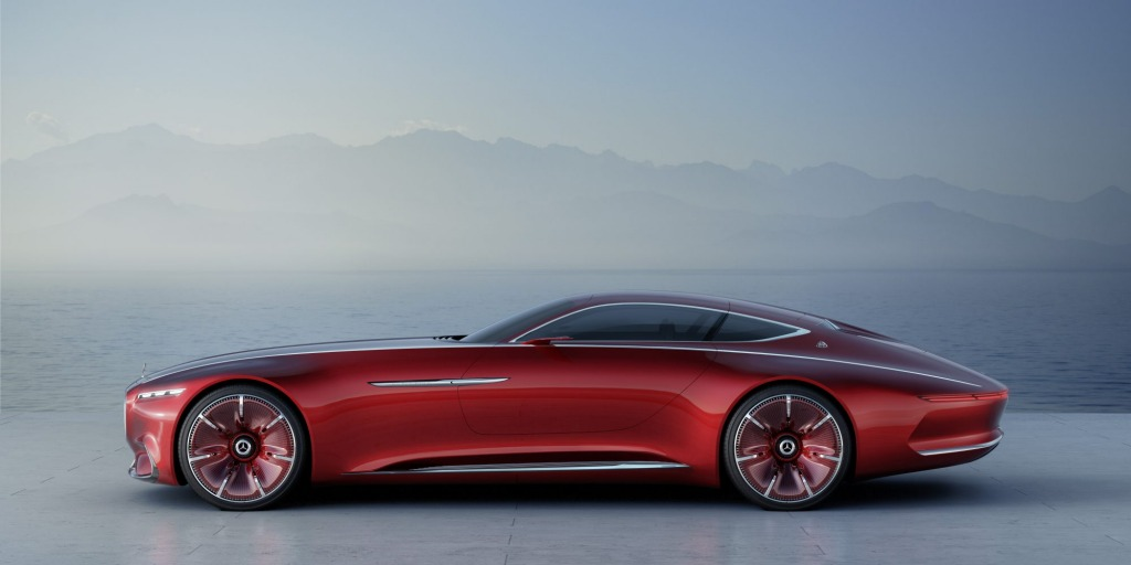Mercedes-Maybach Vision 6 Concept. At 18.5-feet (5.63 metres) long, it is roughly the size of some of the Detroit dreamboats that plied American highways in the 1950s.