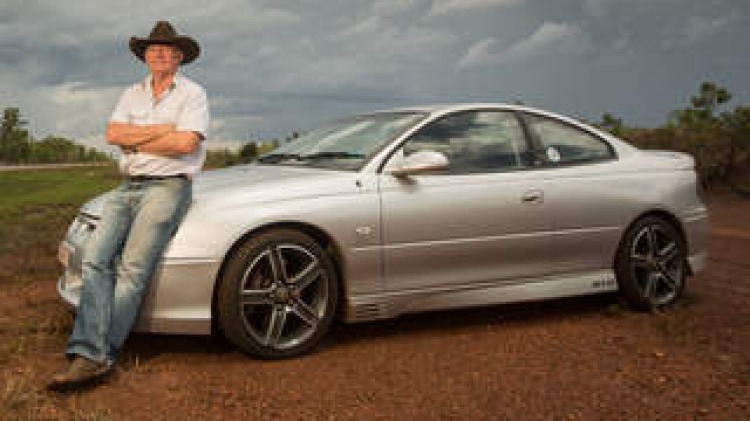Darwin buisnessman Dwyn Delaney looks forward to opening up his HSV Gto next time he is down the track. Photo Glenn Campbell