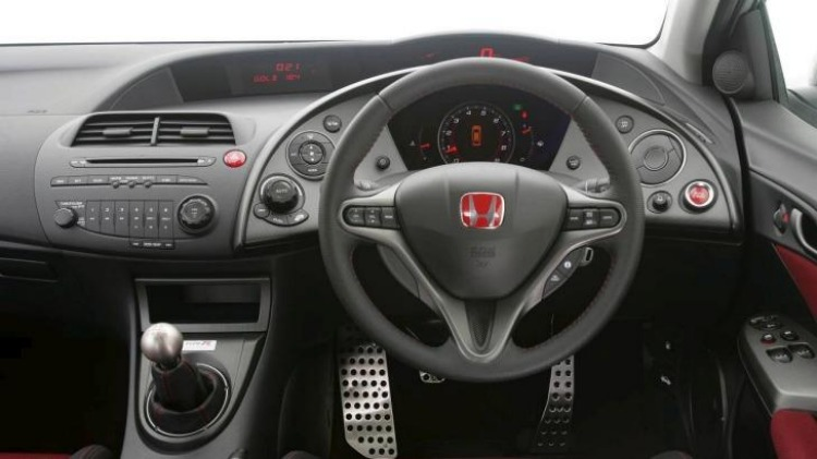 The Type R interior was very boy-racer.