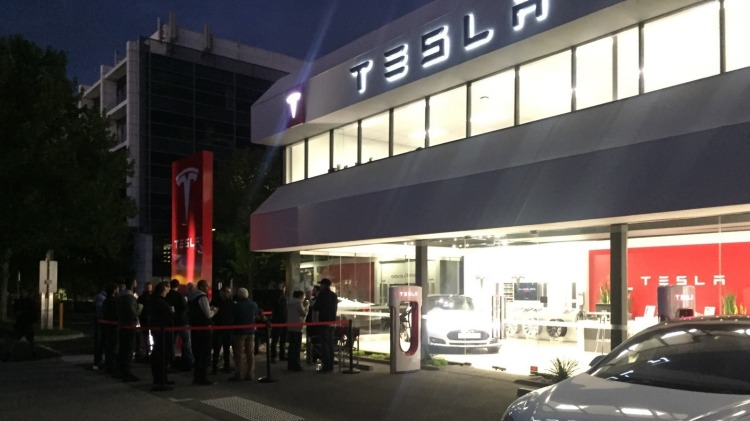 Tesla customers in Australia queued to buy the new Model 3.