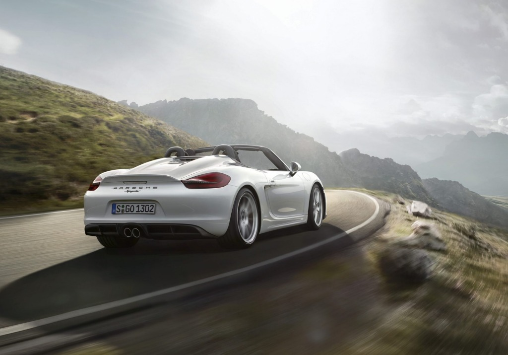 Porsche revealed the 2015 Boxster Spyder at this week's New York motor show