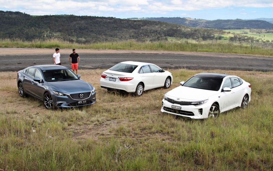 Showdown: Kia Optima GT v Mazda6 GT v Toyota Camry Atara SL Comparison Test