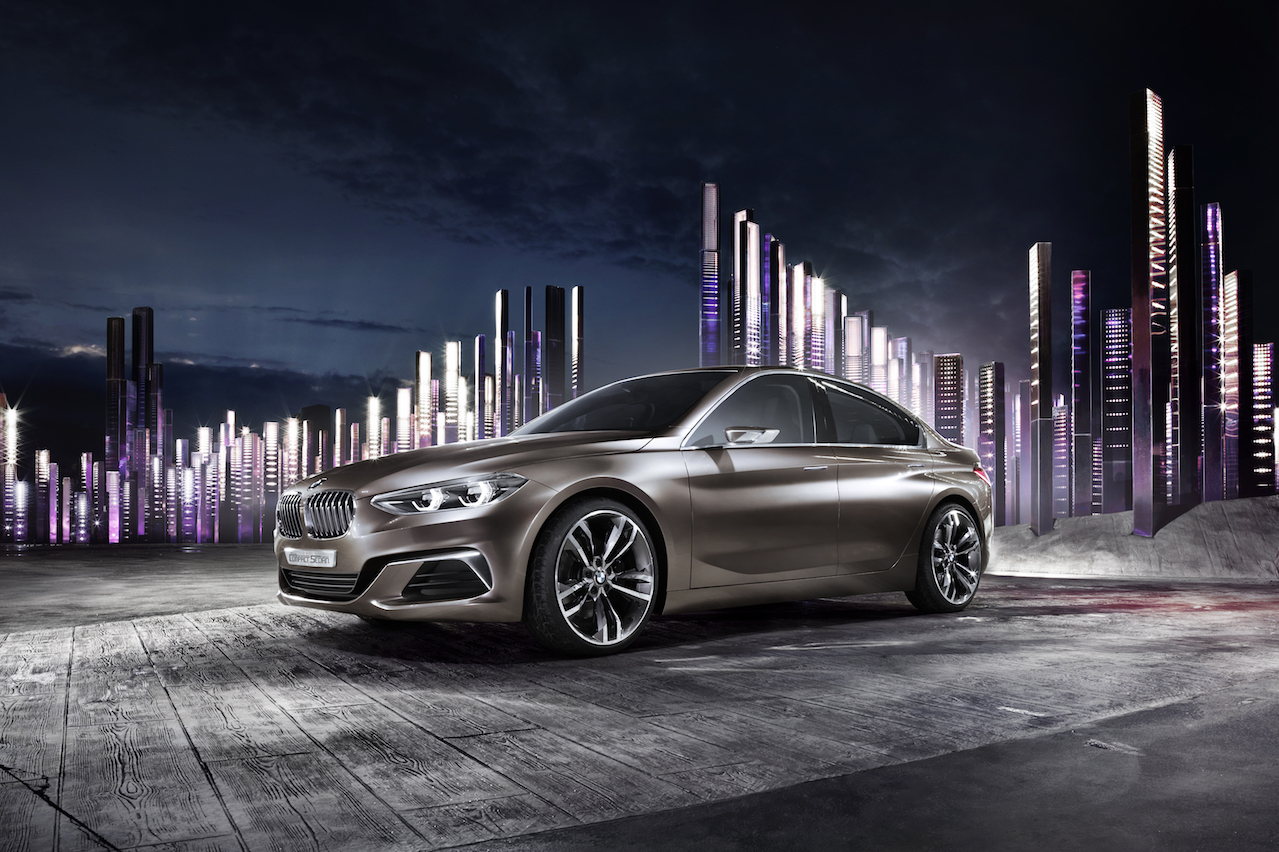 Concept Compact Sedan Previews BMW's First FWD Four-Door In Guangzhou