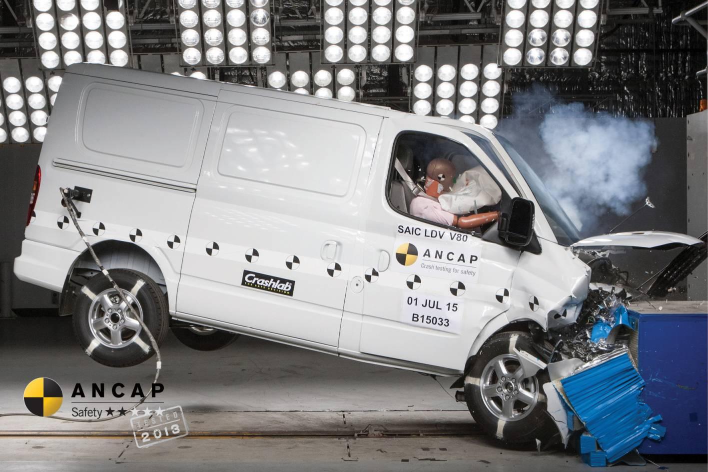 LDV V80 Scores 2 Stars In ANCAP Crash Testing