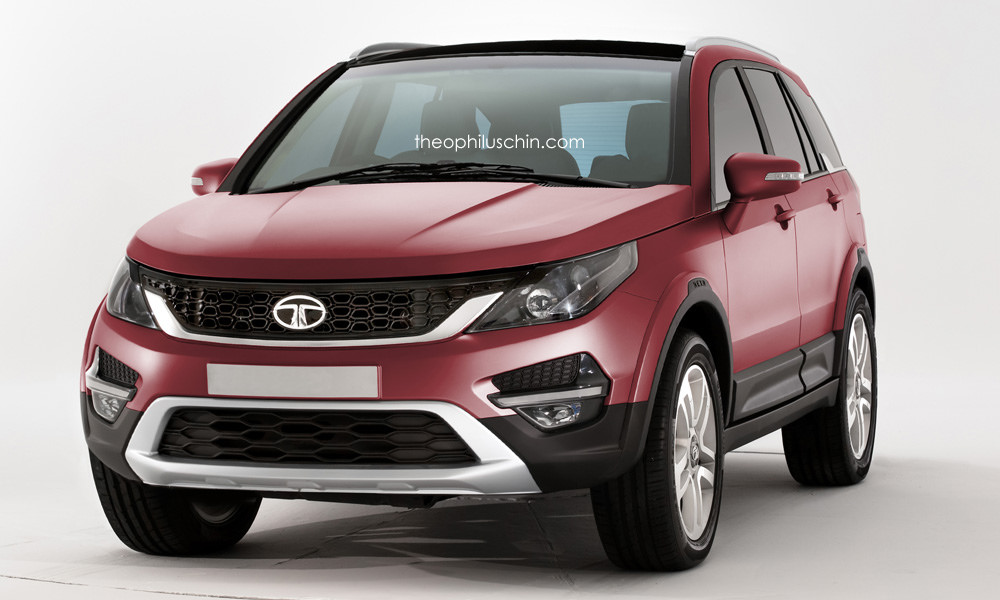 Tata Land Rover Discovery Sport SUV Rendered