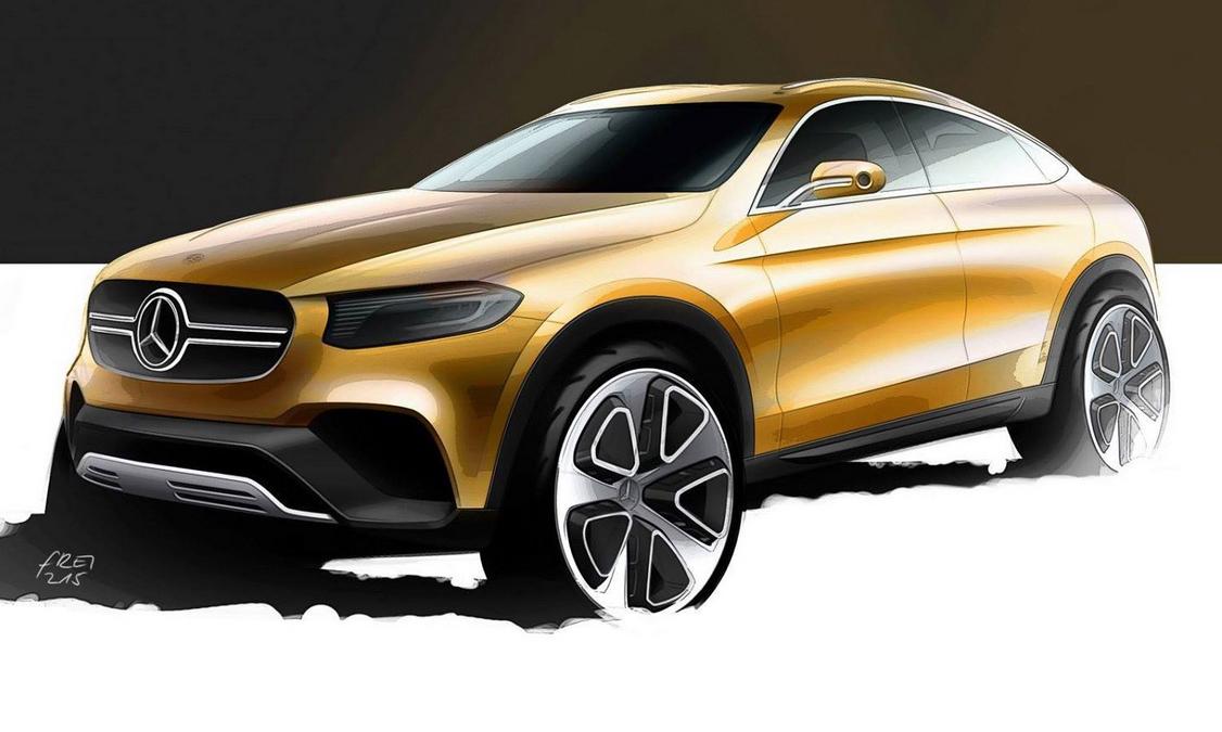 Mercedes GLC Coupe SUV Teased Ahead Of Shanghai Debut