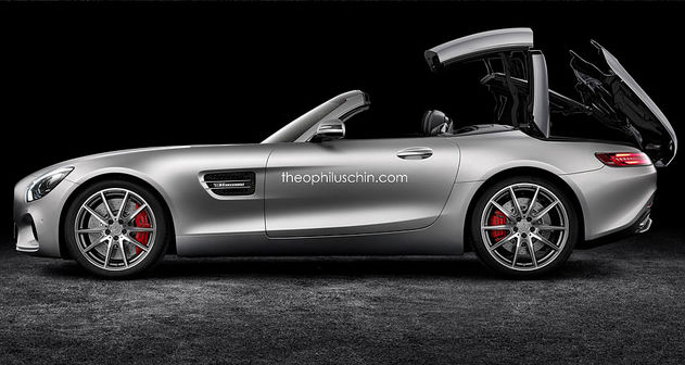Mercedes-AMG GT Folding Hardtop Rendered