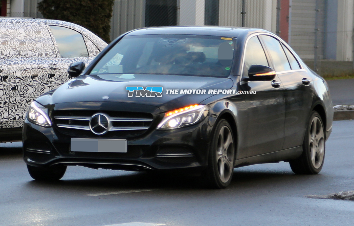 Mercedes Testing All-Digital Dash For C-Class: Spy Photos