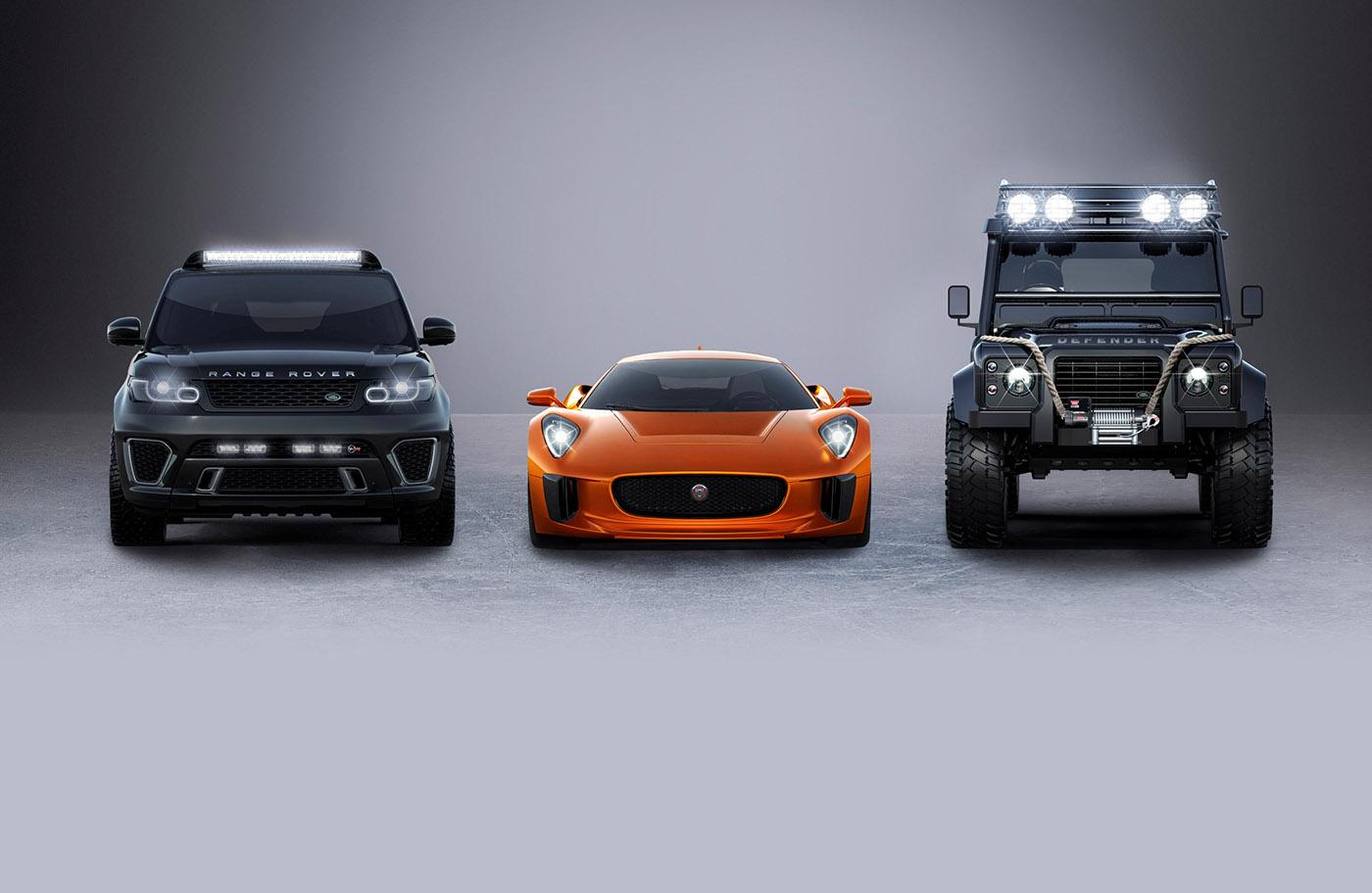 Jaguar, Land Rover Reveal James Bond Specials: C-X75, SVR, Big Foot