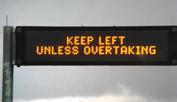 Keep Left: NSW Police Book 300 Motorists That Can't Read A Sign