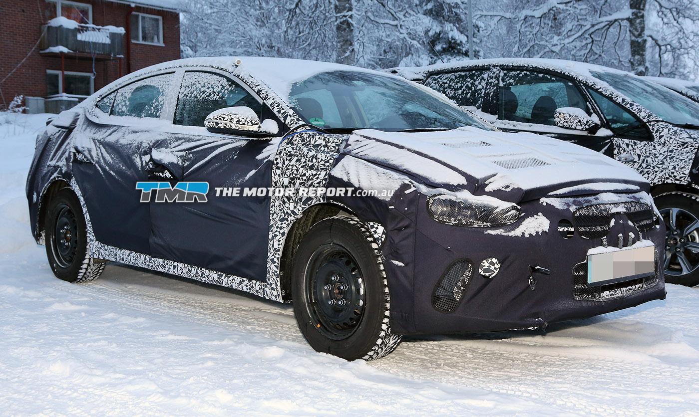 2016 Hyundai Elantra Spied Testing