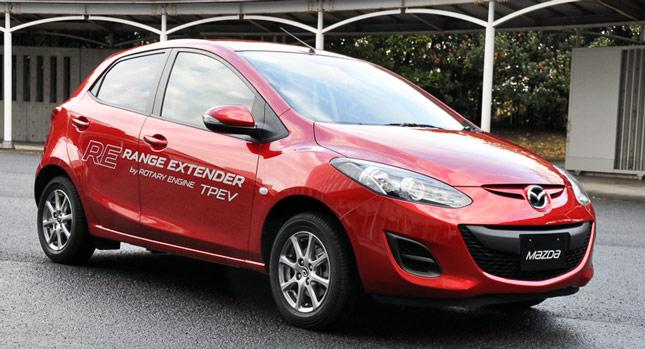 Mazda2 Range Extender Prototype Revealed, With Rotary Power