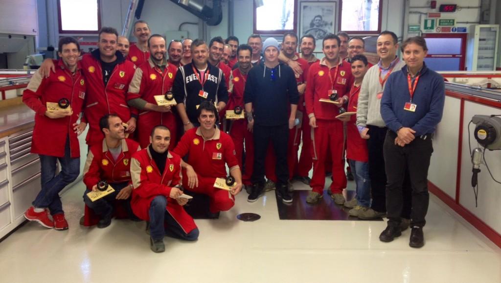 F1: Raikkonen Makes First Official Visit To Scuderia Ferrari Headquarters