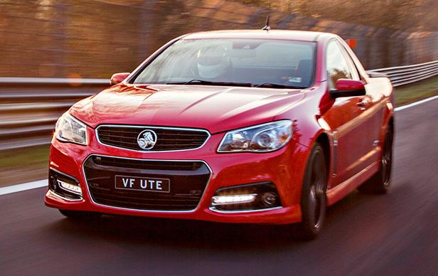 Holden VF Ute SSV Redline Hits The Nurbugring