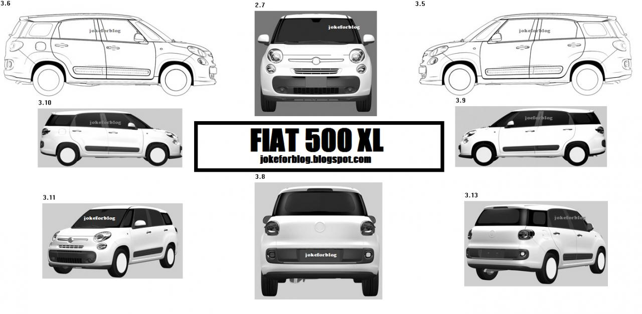 Fiat 500XL Surfaces In Patent App