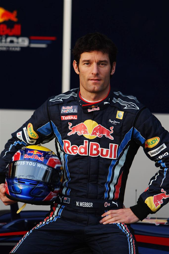 JEREZ DE LA FRONTERA, SPAIN - FEBRUARY 10:  Red Bull Racing driver Mark Webber of Australia attends the unveiling of the new RB6 during winter testing at the at the Circuito De Jerez on February 10, 2010 in Jerez de la Frontera, Spain.  (Photo by Mark Tho