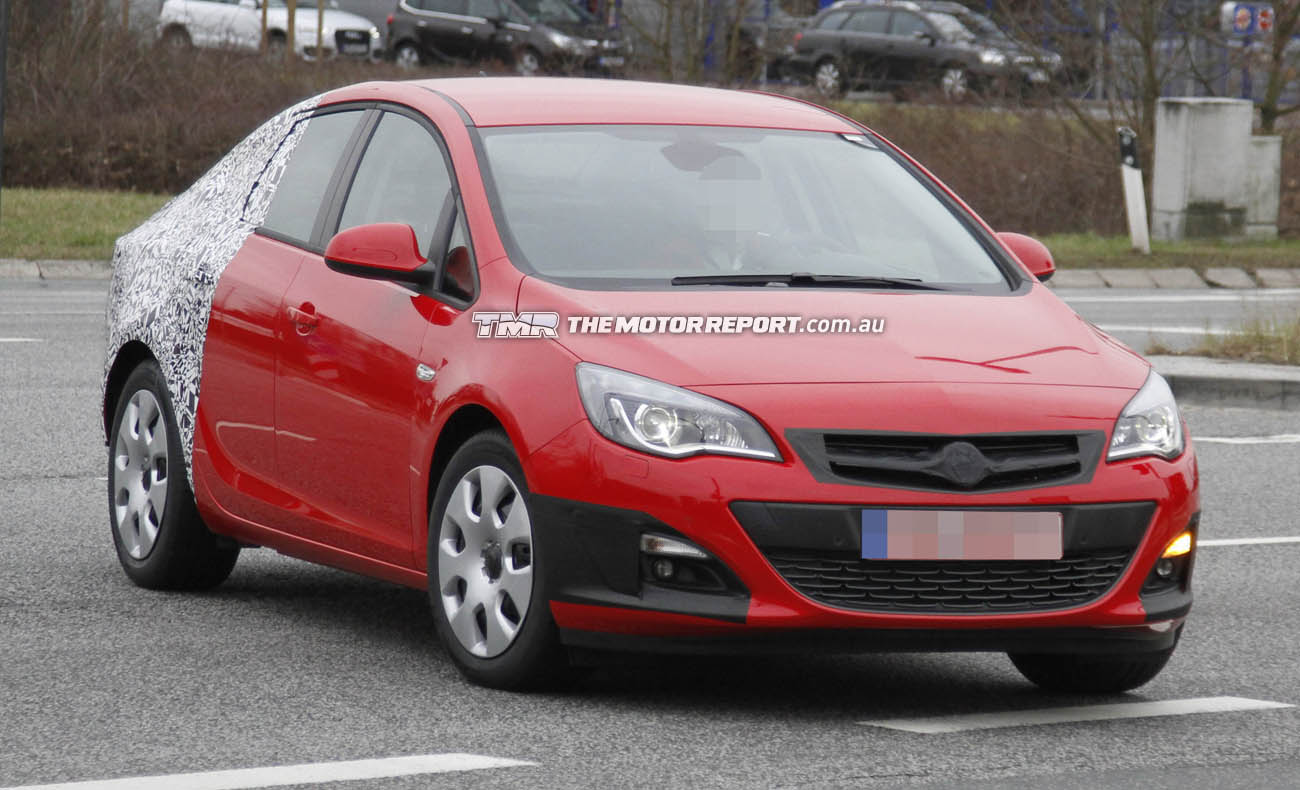 2013 Opel Astra Sedan Spied With New Facelift